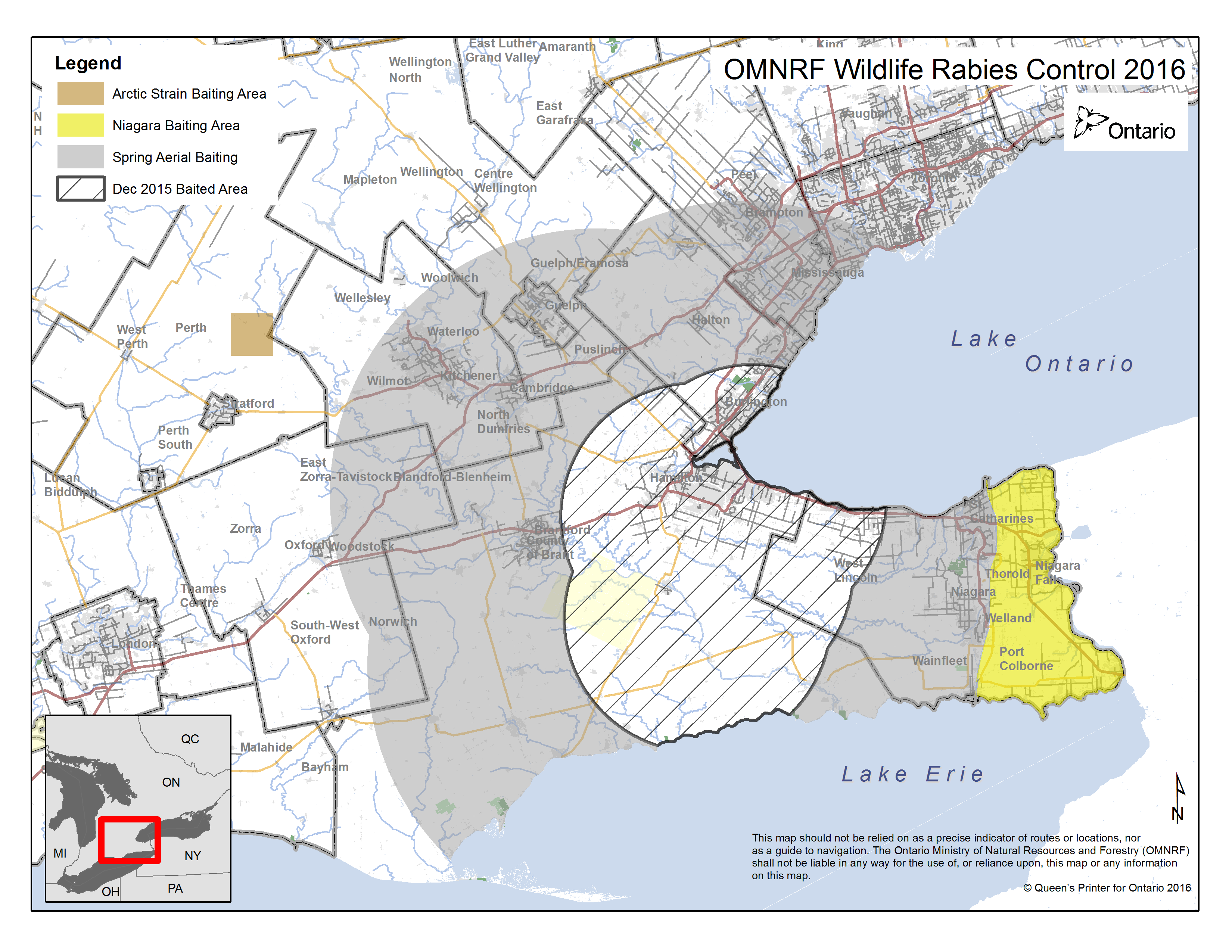 Updated Ontario Rabies Control Zone Map and Spring Rabies Baiting ...